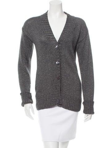 Dolce & Gabbana Metallic Knit Cardigan None