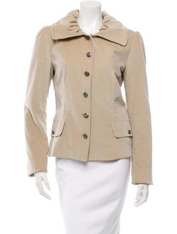 Dolce & Gabbana Velvet Long Sleeve Jacket None