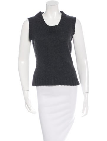 Dolce & Gabbana Sleeveless Cashmere Sweater None