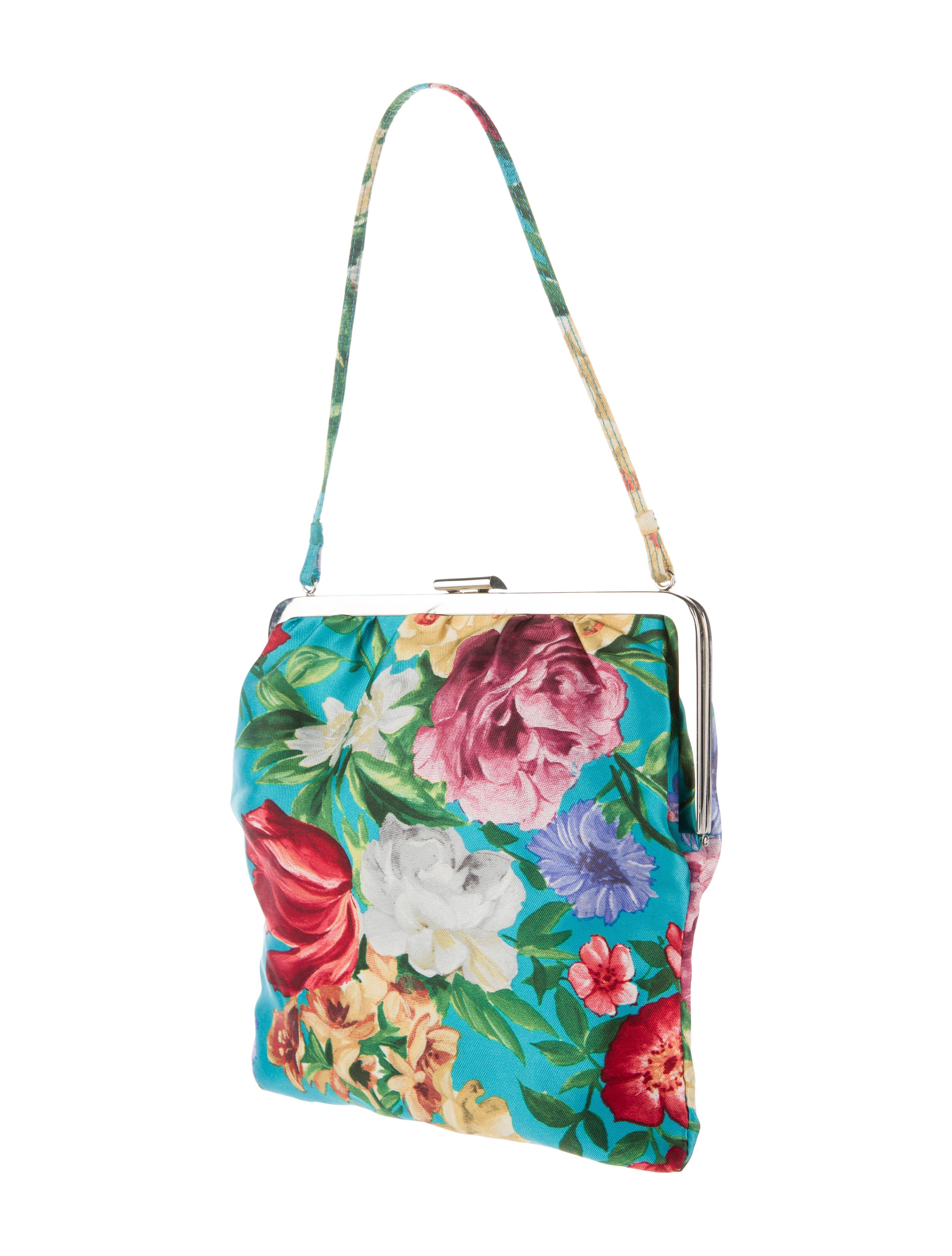 Dolce U0026 Gabbana Floral Satin Evening Bag - Handbags - DAG61343 | The RealReal