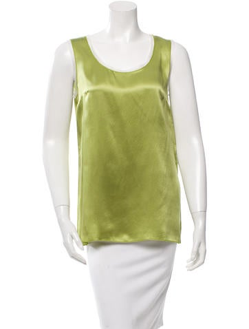 Dolce & Gabbana Sleeveless Silk Top w/ Tags None