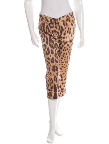 Dolce & Gabbana Leopard Print Cropped Pants