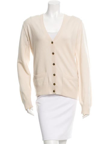 Dolce & Gabbana Long Sleeve Rib Knit-Trimmed Cardigan None