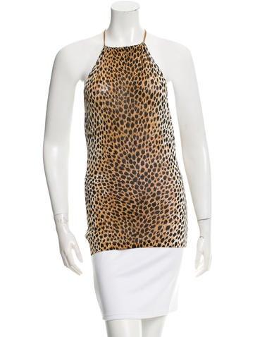 Dolce & Gabbana Cheetah Print Halter Top None