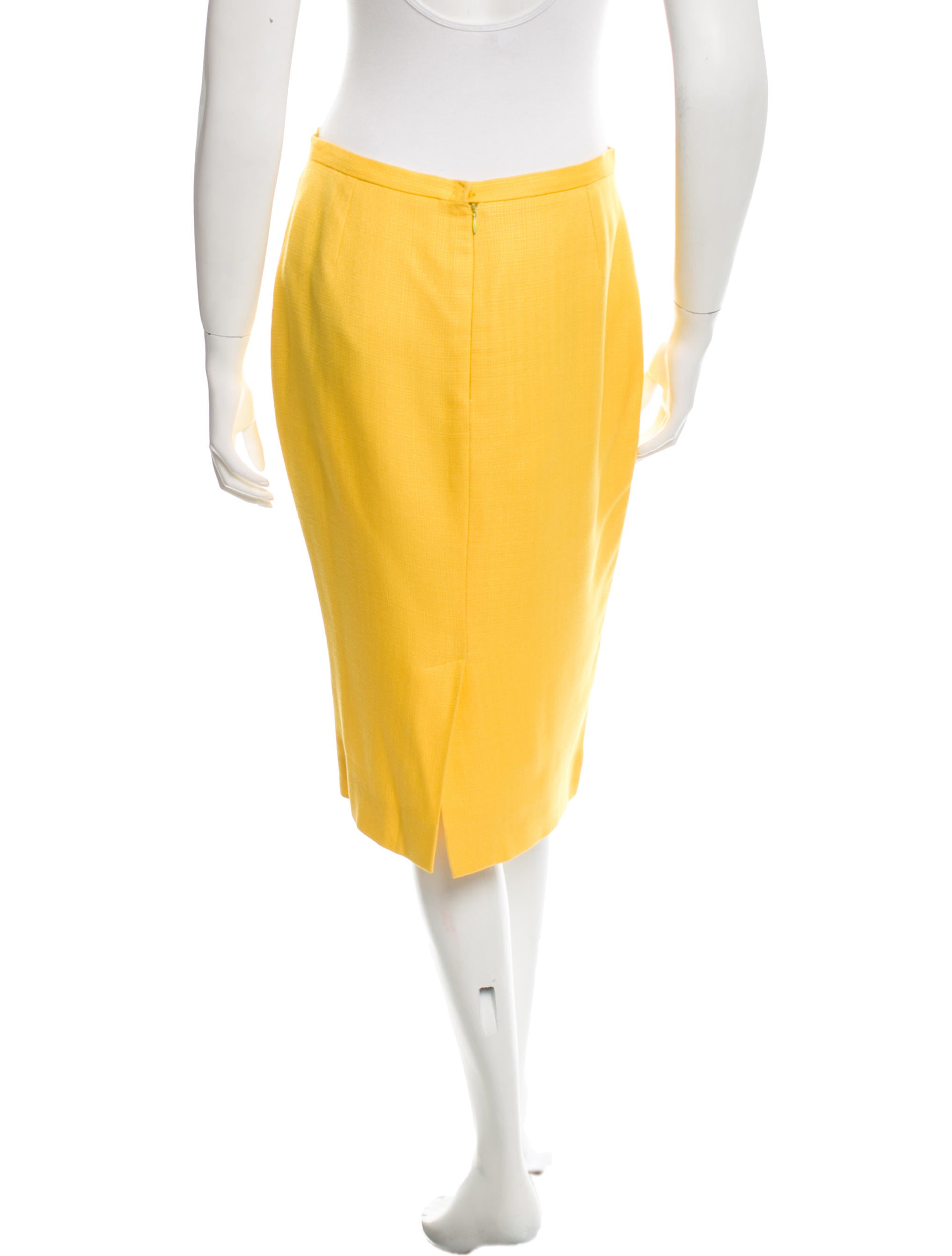dolce gabbana knee length pencil skirt clothing