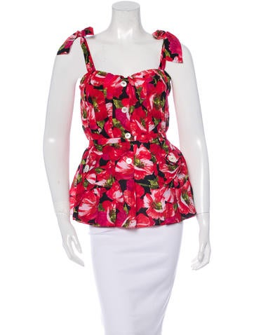 Dolce & Gabbana Floral Print Bustier Top w/ Tags None