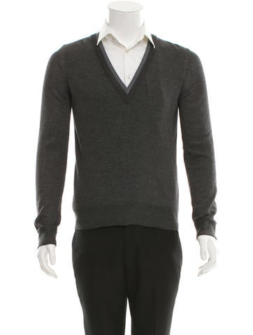 Dolce & Gabbana Layered Wool-Blend Sweater w/ Tags None