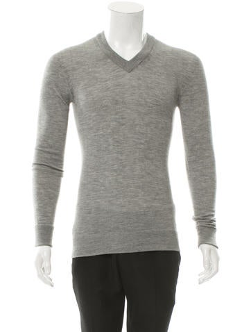 Dolce & Gabbana Cashmere V-Neck Sweater w/ Tags None