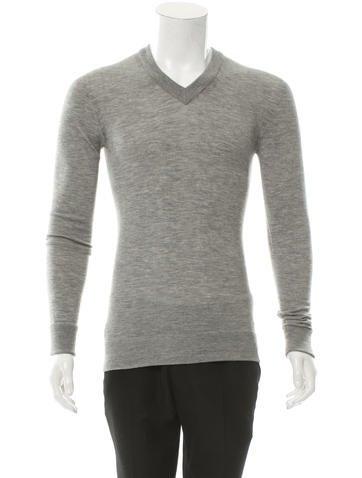 Dolce & Gabbana Cashmere V-Neck Sweater w/ Tags None