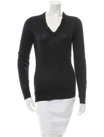 Dolce & Gabbana Ruffled Cashmere Sweater w/ Tags None