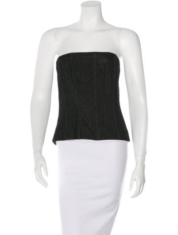 Dolce & Gabbana Wool-Blend Bustier Top None