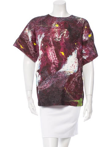 Dolce & Gabbana Silk Jacquard Top w/ Tags None