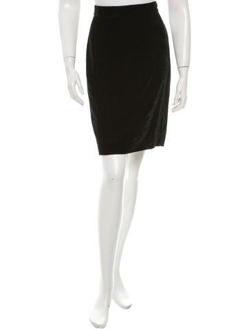 Dolce & Gabbana Velvet Knee-Length Skirt None