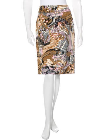 Dolce & Gabbana Printed Knee-Length Skirt w/ Tags