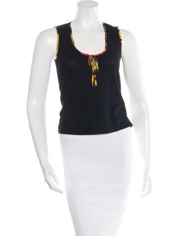 Dolce & Gabbana Sleeveless Tie Top None