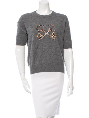 Dolce & Gabbana Embroidered Cashmere Sweater None