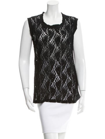 Dolce & Gabbana Lace Sleeveless Top None