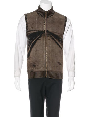 Dolce & Gabbana Intarsia Knit Sweater Vest None