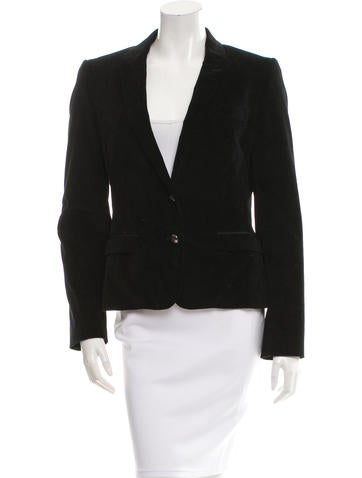 Dolce & Gabbana Velvet Two-Button Blazer None