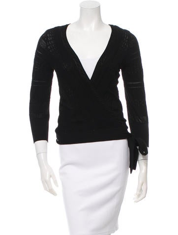 Dolce & Gabbana Open Knit Wrap Top None