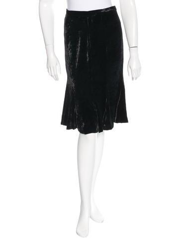 Dolce & Gabbana Velvet Flounce Skirt None