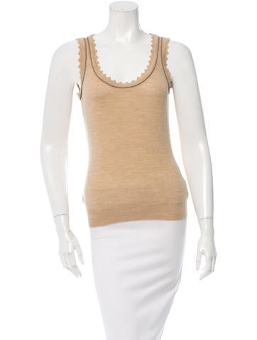 Dolce & Gabbana Scoop Neck Knit Top None