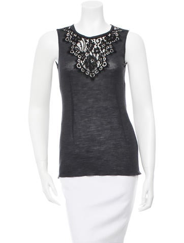 Dolce & Gabbana Wool Embroidered Top None