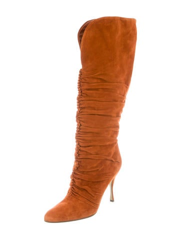 dolce gabbana ruched suede boots shoes dag64748