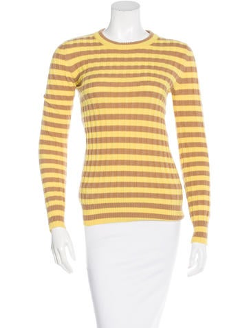 Dolce & Gabbana Rib Knit Striped Sweater None