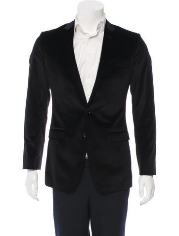 Dolce & Gabbana Velvet Notch-Lapel Blazer None