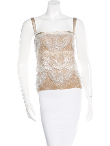Dolce & Gabbana Lace-Accented Bustier Top None