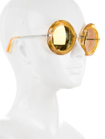 Oversize Reflective Sunglasses w/ Tags
