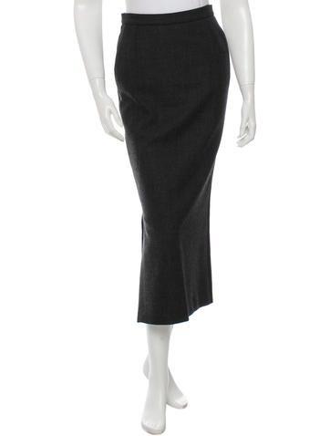 Dolce & Gabbana Wool Midi Skirt None