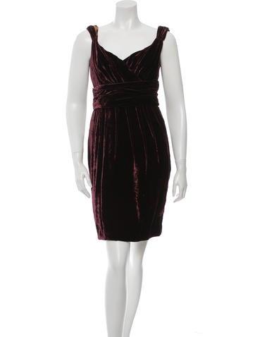 Dolce & Gabbana Velvet Mini Dress None