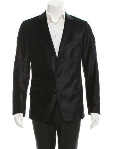 Dolce & Gabbana Velvet Three-Button Blazer None