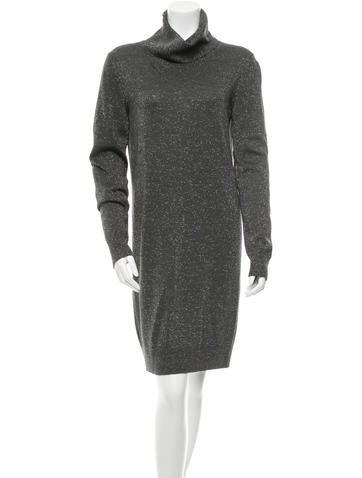 Dolce & Gabbana Turtleneck Sweater Dress None