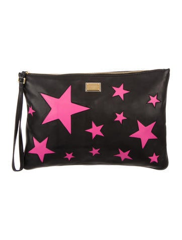 Star Leather Clutch