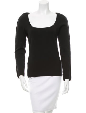 Dolce & Gabbana Wool Long Sleeve Top None