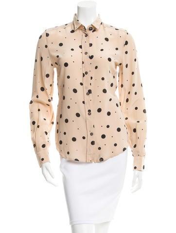 Dolce & Gabbana Silk Polka Dot Top None