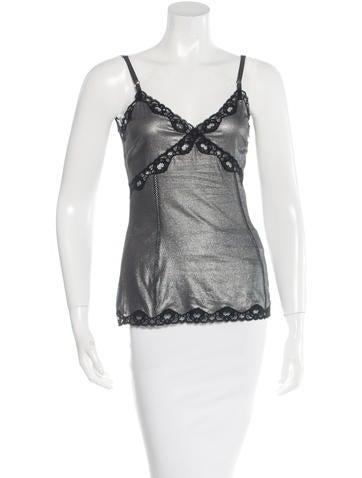 Dolce & Gabbana Metallic Silk Top None