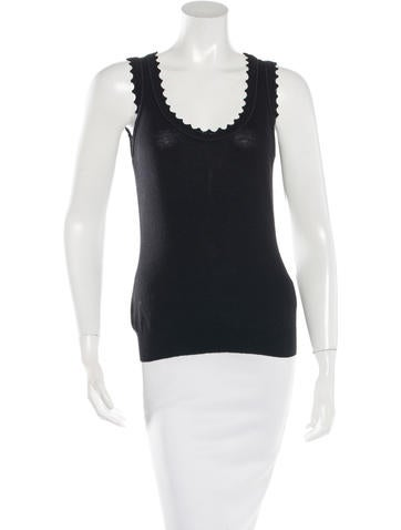 Dolce & Gabbana Virgin Wool Sleeveless Top None