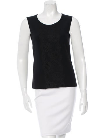 Dolce & Gabbana Lace-Accented Scoop Neck Top None