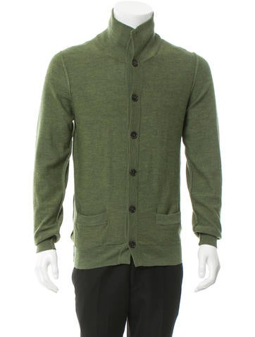 Dolce & Gabbana Mock Neck Rib Knit-Trimmed Cardigan None