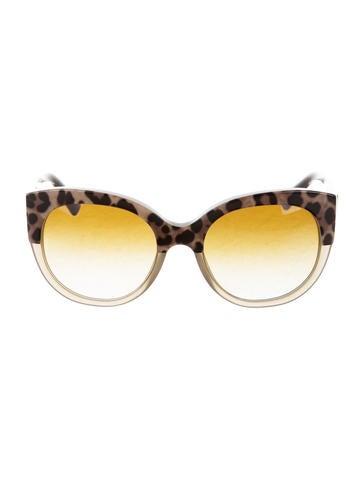 Oversize Leopard Sunglasses