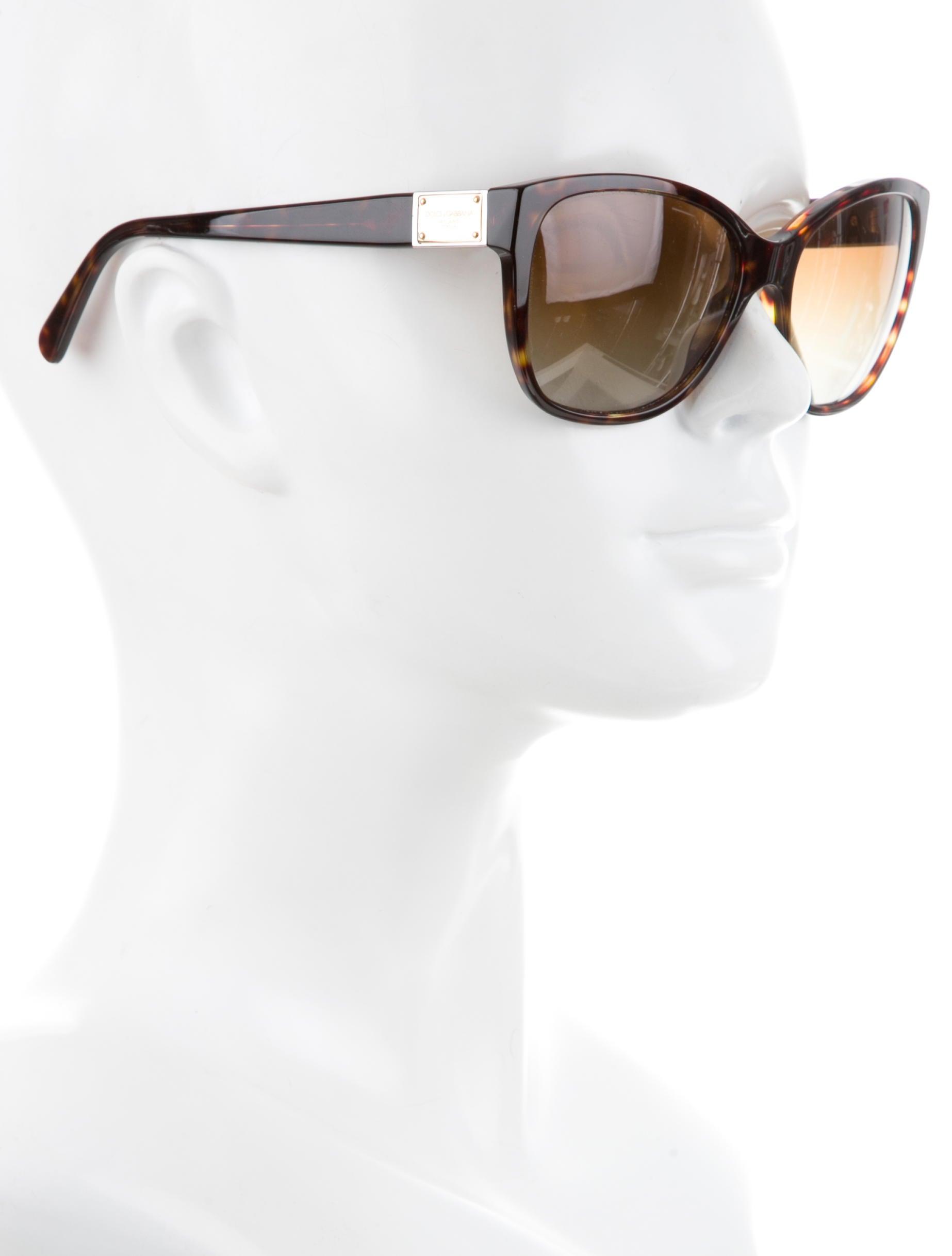 90fb6522fdbe Dolce   Gabbana Cat Eye Tortoiseshell Sunglasses