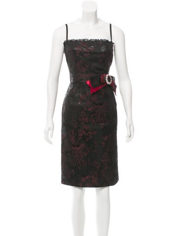 Dolce & Gabbana Jacquard Bow Dress