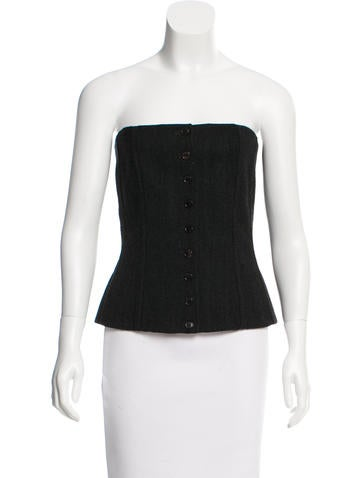 Dolce & Gabbana Wool Bustier Top None
