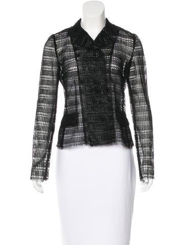 Dolce & Gabbana Raffia & Tulle Blazer