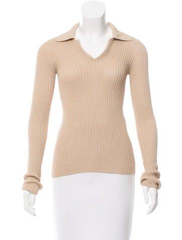Dolce & Gabbana Collared Rib Knit Top None