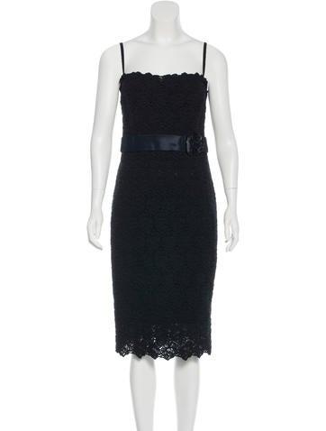 Dolce & Gabbana Macramé Lace Bustier Dress None